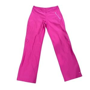 Nike Dri Fit Flared Pants Golf Pants Pink Women M